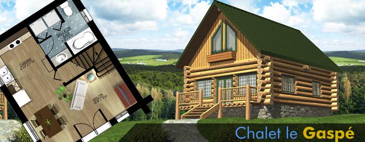 Construction bois massif for Plan de maison bois rond
